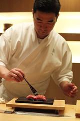 Sushi Tou, Nishiazabu, Tokyo, Japan (Plan R) Tags: sushi chef restaurant tou tokyo leica m 240 noctilux 50mm fish