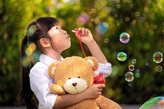 Asian girl play a bubble from soap in out door park (anekphoto) Tags: childcare preschooler vacation baby leisure thai asia asian girl kid playing game outdoors play beauty outside young freedom bubble grass park lifestyle outdoor garden fun portrait nature green playful joy happiness little child soap blowing blow happy meadow summer cute spring healthy childhood lovely funny bubbles person female holding background