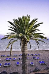 Sun Down at Play Grande Lanzarote (BRH7) Tags: lanzarote playa grande puerto puertodelcarmen spain canaryislands beach sand water sea palmtree sunbeds hamicas night sundown sunset