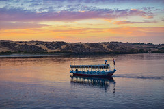 (Ghada Elchazly) Tags: egypt aswan boats boat nile river water sky colors nature clouds landscape mount mountain flickr ngc travel tourism