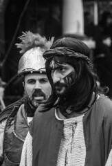 DSC_7373_epgs (Eric.Parker) Tags: april 19 easter 2019 goodfriday procession littleitaly stfrancis assisi church stfrancisofassisi college street jesus christ stationsofthecross christian christianity brassband toronto palm bw
