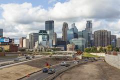 Minneapolis (Lucie Maru) Tags: minneapolis city urban skyline 35w freeway construction highway road cars