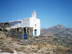 Little church near Tarampados (Rrrodrigo) Tags: color 645 fujigs645s 120film mediumformat fujicolorpro160ns fuji film greece summer tinos church architecture