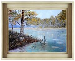 etang (saillet.bj) Tags: peinture huile couteau toile aquarelle etangs rivieres france bourgogne loisirs photos