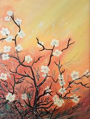 branche de cerisier (saillet.bj) Tags: huile toile peinture cerisier arbres aquarelle dessins