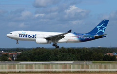 Air Transat Airbus A330-243 C-GTSR (RuWe71) Tags: airtransat tstsc canada montréal airbus airbusa330 a330 a332 a330200 a330243 airbusa330200 airbusa330243 cgtsr msn966 fwwyp brusselsairport brusselszaventem brusselszaventemairport brusselzaventem zaventem bru ebbr widebody twinjet landing runway winglets sunshine clouds