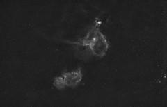 Heart and Soul Nebula (AstroBackyard) Tags: heart soul nebula astrophotography space astronomy halpha hydrogen alpha 12nm ha filter clipin canon eos astronomik camera dslr cassiopeia stars night