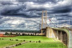 Humber Bridge 😊 (LeanneHall3 :-)) Tags: groupenuagesetciel humberbridge sky skyscape grumpyclouds cloudsstormssunsetssunrises landscape bridge hdr canon