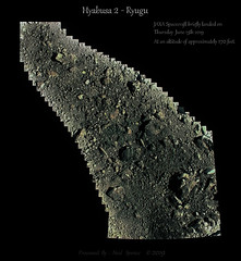 Ryugu Surface Mosaic (June 13th ~ 2019) (TerraForm Mars) Tags: ryugu asteroid hyabusa2 jaxa esa nasa falsecolour