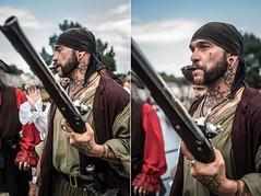 Pirate (~ Jessy S ~) Tags: pirate nikon nikkor nikond750 d750 portrait man homme men tattoo tatouages sky ciel eyes yeux skin peau tatoué gun