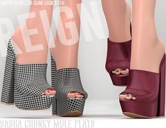 REIGN.- SASHA CHUNKY MULE PLATS (REIGN♥) Tags: reign teamreign secondlife shoes slink summer sl slevent sandals n°21 n21 belleza body mesh maitreya kenadee kenadeecole kenadeereign legacy