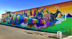 Naptime by Okuda (wiredforlego) Tags: graffiti mural streetart urbanart aerosolart publicart lasvegas las vegas nevada okuda lifeisbeautiful