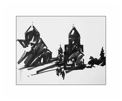 Kecharis Monastery. Armenia. (Gasheh) Tags: art painting drawing sketch church monastery architecture marker gasheh 2019