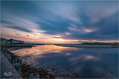 Waiting for Sunrise (allachie9) Tags: longexposure lossiemouth moray morayfirth sunrise reflections clouds