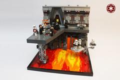 Traitor's End (darth85) Tags: swlego starwars stormtrooper star wars legosw lego legostarwars sarapin empire imperial neimoidian mining lava magma volcanic platform death troopers agent