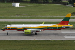 YL-CSK ZRH 19.08.2019 (Benjamin Schudel) Tags: ylcsk air baltic airbus a220300 bombardier cs300 lithuanian livery zrh lszh zurich international airport switzerland