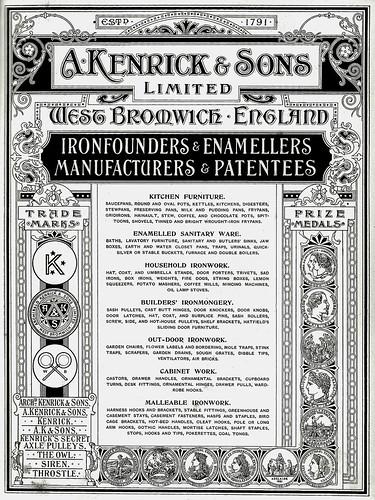 Archibald Kenrick & Sons. 1899 Catalogue