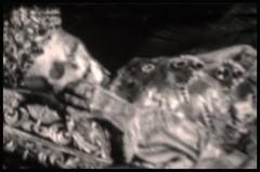 DIE CLOWNFRAU . THE CLOWNS WIFE (LitterART) Tags: clown wife frau lachen mummy mumie literatur wordpress litterart dark odd weird monochrome spooky skurril story deutsch german pinhole woman gefroren frozen frost gefrierschrank freezer fridgefreezer circus zirkus weinen heaven hell
