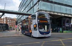UK - Manchester bus (onewayticket) Tags: bus transport urban gonorthwest volvo b5lh volvob5lh wright wrightgemini2 gemini2 bn61mwx