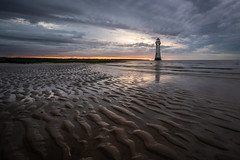 New Brighton Beach (Rob Pitt) Tags: new brighton lighthouse wirral sunset glow water mersey merseyside summer july sony a7rii canon 1740 f4 l sand ripples
