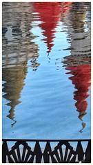 The Pointed Reflection (plismo) Tags: plismo bracken nevada unitedstates water reflection fence hotel lasvegas vegas lasvegasstrip excaliburlashotelcasino excaliburlashotel casino excalibur
