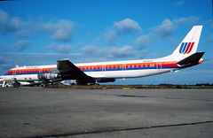 N8084U UNITED DC-8-61 at KCLE (GeorgeM757) Tags: united dc861 kcle clevelandhopkins georgem757 predigital aircraft aviation airplane airport mcdonnelldouglas dc8 ppsoo cfqpl n8084u