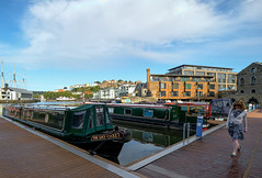Lucy Locket (photogramps) Tags: bristol harbourside water avon harbour cranes boats narrowboat