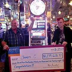 James C. – $1.2 Million Dollars – August 2017