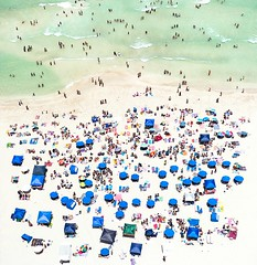 159261 (augustg28) Tags: above aerial ariel arty beach birds eye view ocean sand sea sun towel umbrella miamifloridaunited states