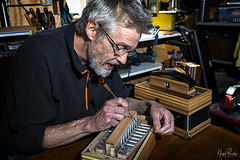 REES 4 (Nigel Bewley) Tags: reeswesson welshpool wales uk powys montgomeryshire ytrallwng accordion buttonaccordion melodeon musicalinstrument box squeezebox handmade profoto unlimitedphotos nigelbewley photologo amateurphotographer appicoftheweek august august2019 smalltrades artistsandartisans artist artisan maker creator workshop