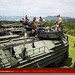 U.S. Marines conduct assault amphibious vehicle crew-served weapons training on Camp Hansen