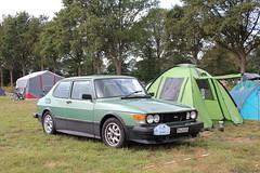 Saab 99 1980 (ZH426024) (MilanWH) Tags: saab 99 1980 airflow spoiler green camping alloy us sealedbeam zh426024 tent intsaab