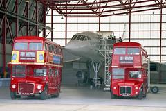 RM1 - SLT 56 & RM3 - SLT 58 (Solenteer) Tags: londontransport rm1 slt56 rm3 slt58 aec routemaster parkroyal weymann showbus duxford