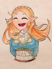 Happy Zelda! (Ephraim Fowler) Tags: ephraimfowler zelda botw legendofzelda link triforce princess drawing art sketch coloredpencil
