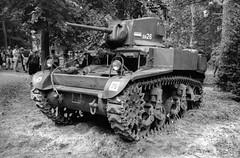 Stuart light tank (Ronald_H) Tags: stuart light tank santa fe overloon war museum washi d black white film wwii 2019 nikon f65