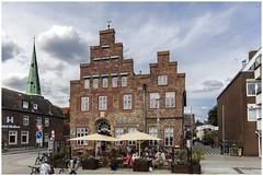 Travemünde, Germany (clive_metcalfe) Tags: travemünde germany building brick hotel spire clouds port town windows redbrick