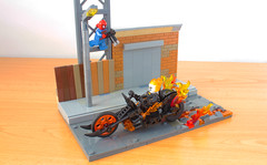 Lego Ghost Rider's bike (hachiroku24) Tags: lego ghost rider bike motorcycle moc marvel