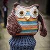wee crafty owl (233/365) (werewegian) Tags: wee crafty owl yarnbomb wool knitted werewegian aug19 365the2019edition 3652019 day233365 21aug19