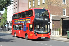 YX18 KXF (EH293) Go-Ahead London General (hotspur_star) Tags: londontransport londonbuses londonbus londonbuses2019 alexanderdennisltd enviro400hmmc tfl transportforlondon hybridbus hybridtechnology busscene2019 doubledeck goaheadlondongeneral yx18kxf eh293 88