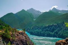 Diablo Lake Lookout (markburkhardt) Tags: diablo lake washington park state water blue green mountain ravine cascade