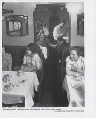 GWR Restaurant Car, 1935. photo National Railway Museum. (Phineas Redux) Tags: gwrrestaurantcar1935photonationalrailwaymuseum britishrailwayrestaurantcarriages greatwesternrailway railwayphotographs