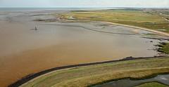 Yantlet Creek - Allhallows Marshes, the Hoo Peninsular (Alan Denney) Tags: kap kiteaerialphotography aerial hoopeninsular kent thames marsh mud londonstone