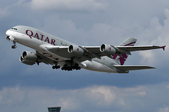 A7-APH Qatar Airways Aitrbus A380-861 at London Heathrow Airport on 2 August 2019 (Zone 49 Photography) Tags: england london airport heathrow aircraft august aeroplane airbus a380 airways qr airliner lhr qatar 380 2019 qtr egll 388 861 a388 a7aph