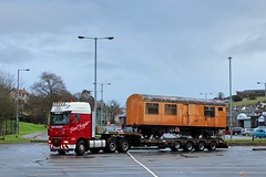 The Brexit Buster (Milepost98) Tags: ni northern ireland irish railway train dcdr downpatrick county down heritage vintage preserved museum tin van tpo 638a 2971 4wheeler 4wheeled delivery arrival carriage coach