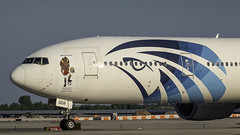 SU-GDR_JFK_Taxiing_Out_22R_Official_Carrier_Of_The_Total_Africa_Cup_Of_Nations_Egypt_2019_Sticker_Nose (MAB757200) Tags: egyptair b77736n sugdr aircraft airplane airlines airport jetliner jfk kjfk boeing taxiing runway22r