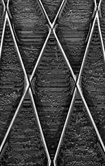 Switches / Стрелки (Boris Kukushkin) Tags: bw railway switch ties sleepers rail rails чб рельс рельсы шпалы стрелка жд железная дорога jupiter 37a юпитер 37а abstract abstraction абстракция