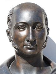 Graf Karl Ernst von Gravenreuth (guenther_haas) Tags: neuulm gründungsvater grafkarlernstvongravenreuth büste highres olympus omd em1x mzuiko 40150mm pro bronze portrait
