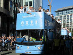 The Bus Business LX03ORW 20052019c (Rossendalian2013) Tags: manchestercityfootballclub parade manchester thebusbusiness fourmidables opentop transbus trident alx400 lx03orw stagecoacheastlondon