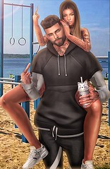 [ 📷 - 37 ] (insociable.sl) Tags: street friends boy beach girl sport friendship fuck sl secondlife rebellion workout 4ever edit compote 4years pompote finger thanks bestfriend hoodie sweat jogging sportwear sea summer sun training