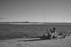Fishing (Stueyman) Tags: sony alpha a7 a7ii wa westernaustralia au australia woodmanpoint water sky coast coastline fishing perth shadow indianocean ocean sea zeiss batis batis240cf 40mm outside